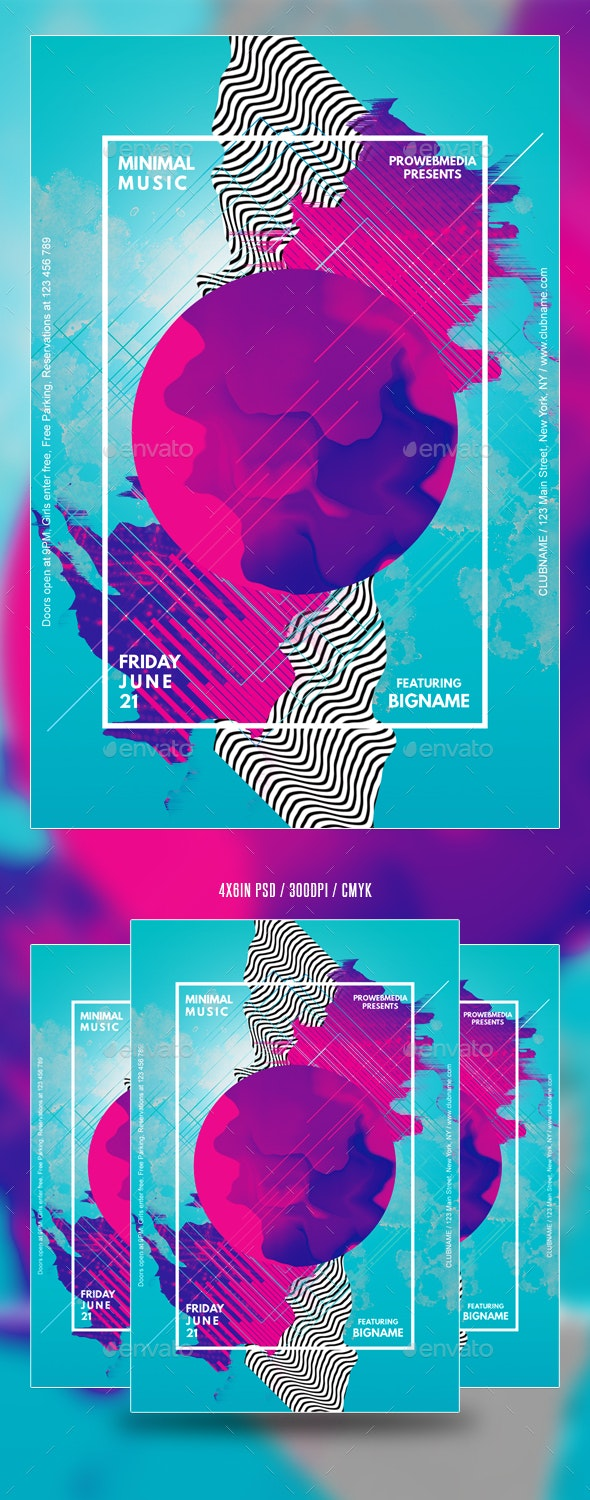 Abstract Minimal Party Flyer - Events Flyers