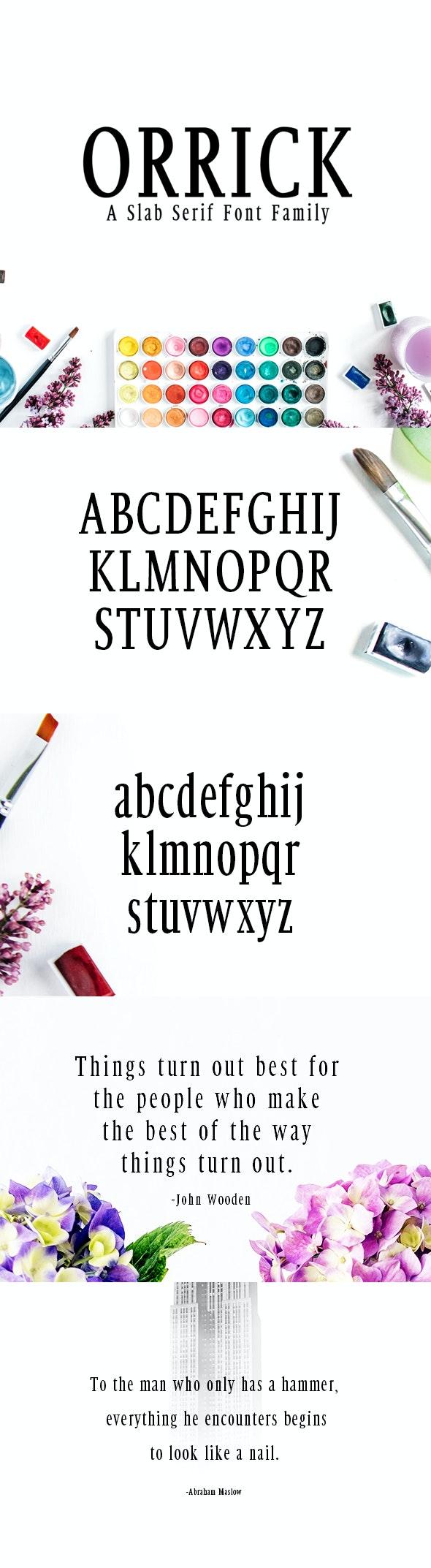 Orrick Slab Serif Font Family - Fonts