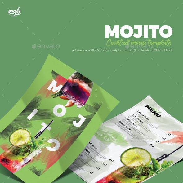 Mojito Cocktail Menu