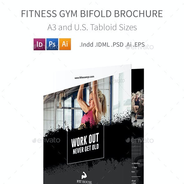 Fitness Bifold / Halffold Brochure 5
