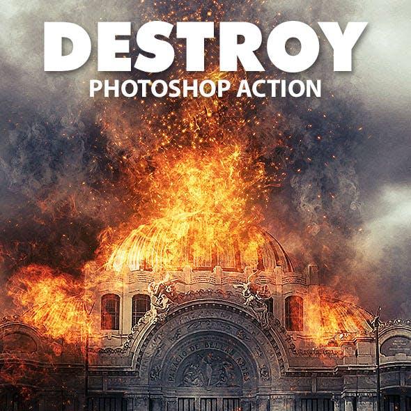 Destroy Photoshop Action