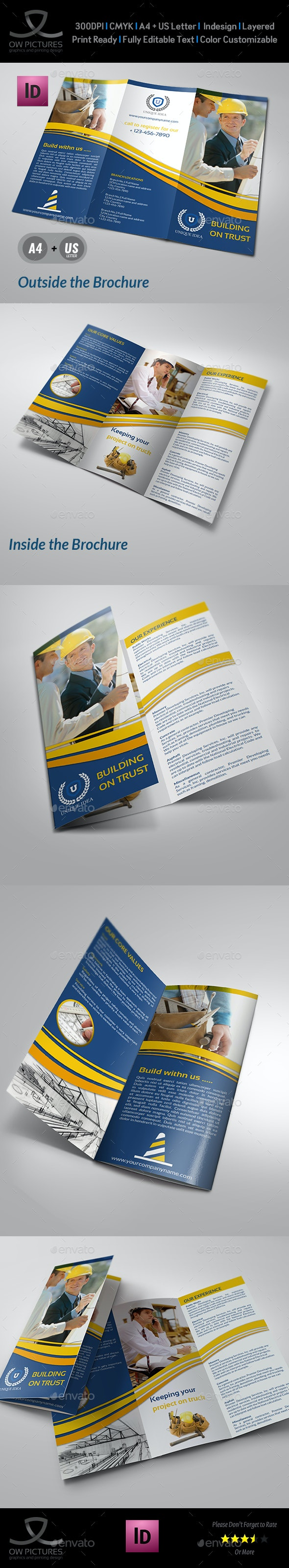 Construction Company Brochure Tri-Fold Vol.2 - Corporate Brochures