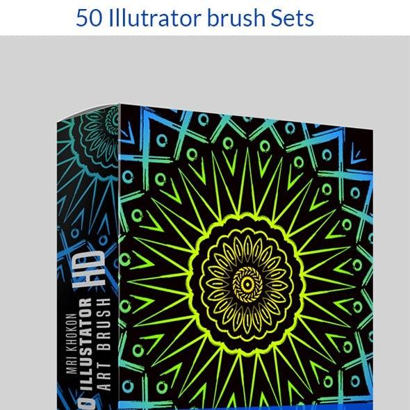 50 Illustrator Brush Sets 4