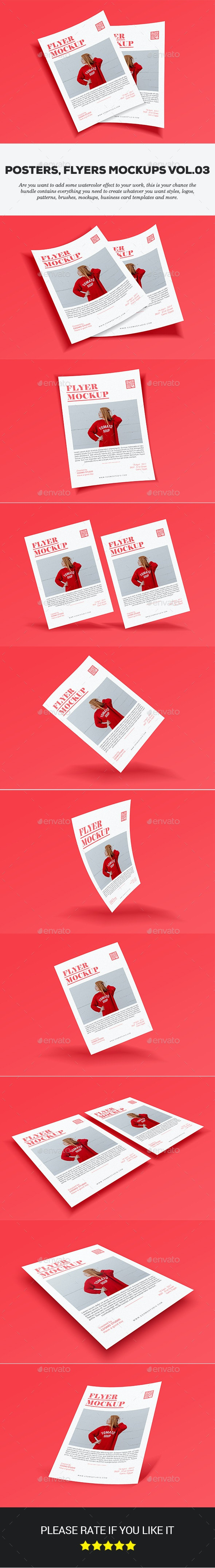 Posters & Flyers Mockups Vol.3 - Product Mock-Ups Graphics