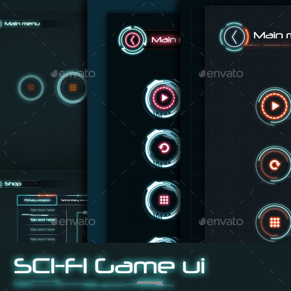 Sci-Fi Game UI Graphics, Designs & Templates from GraphicRiver