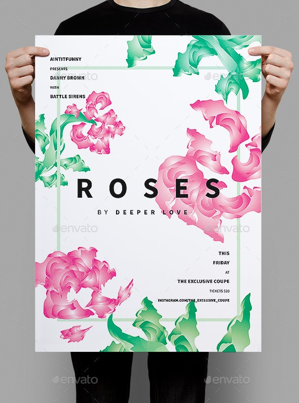 Roses Summer Poster / Flyer - Events Flyers