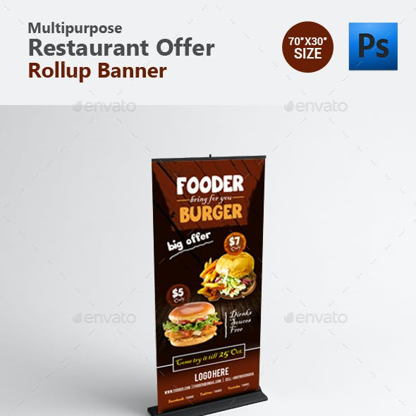 Restaurant Professional Roll up Banner