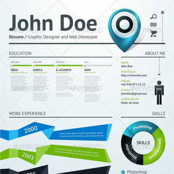 Simple vector template for your resume