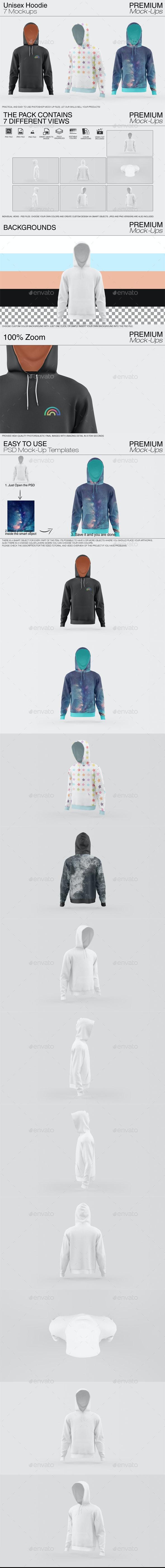 Unisex Hoodie Mockup Set - Print Product Mock-Ups