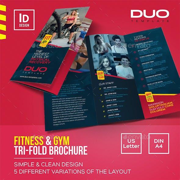 Fitness & Gym Tri-fold Brochure