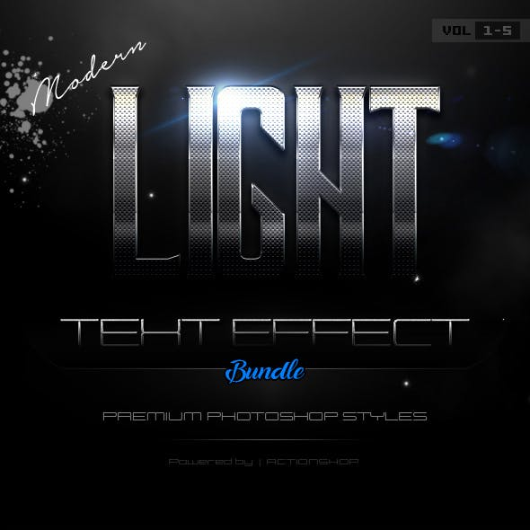 Modern Light Text Effects Bundle