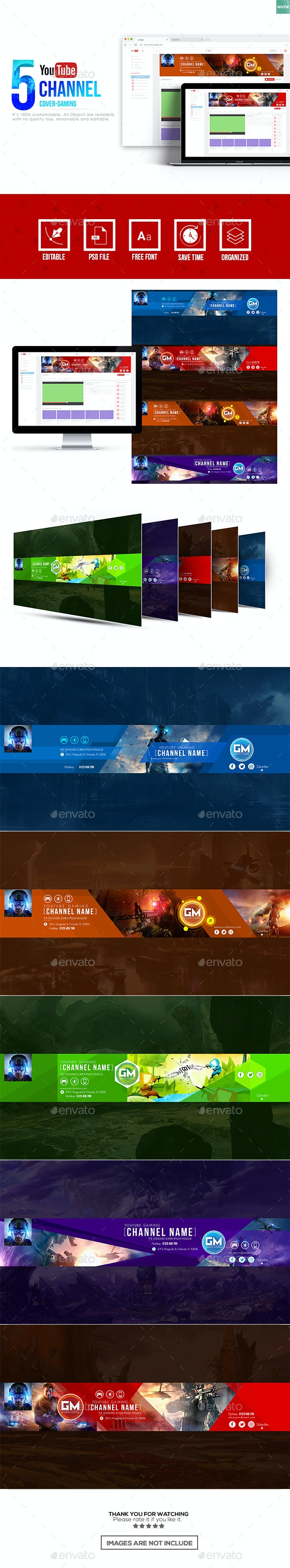 Gaming Channel - Youtube Banner Template - YouTube Social Media