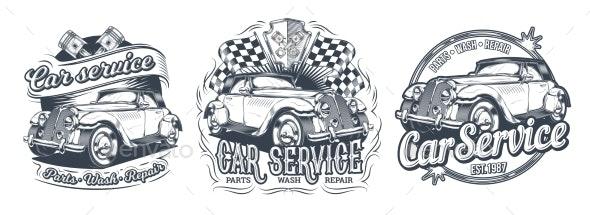 Set of Vector Vintage Badges, Stickers, Signage - Business Conceptual