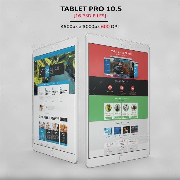 Tablet Pro 10.5 App MockUp 2017 Vol1