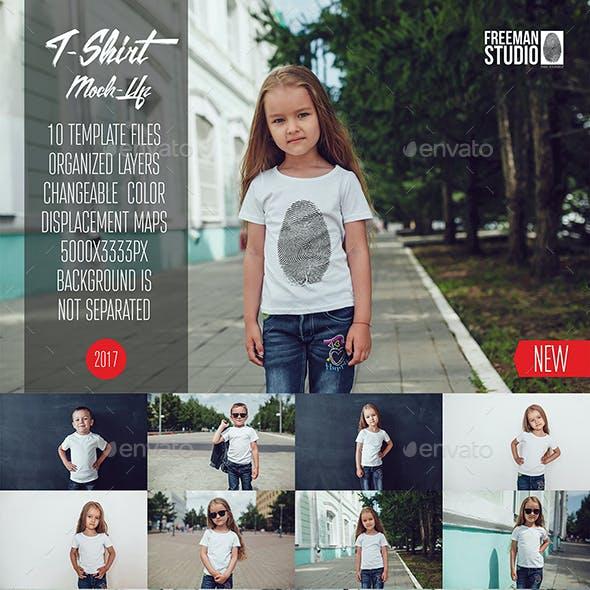 Kids T-Shirt Mock-Up Vol.8 2017
