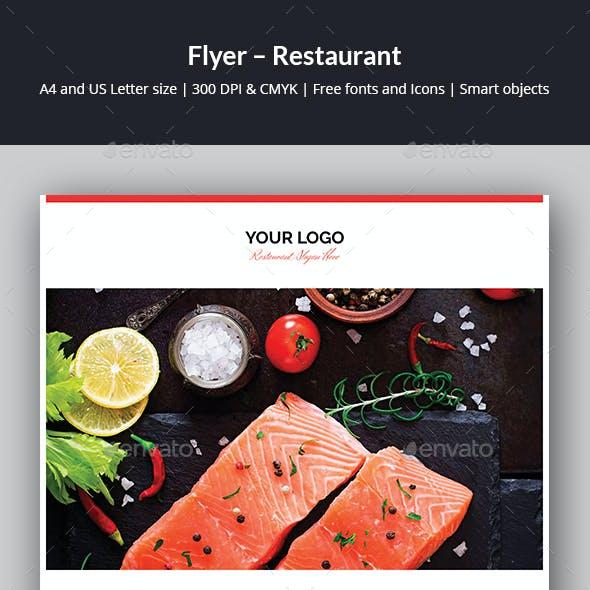 Flyer – Restaurant