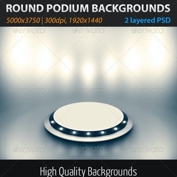 Round Podium Backgrounds