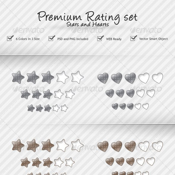 Rating Stars and Hearts