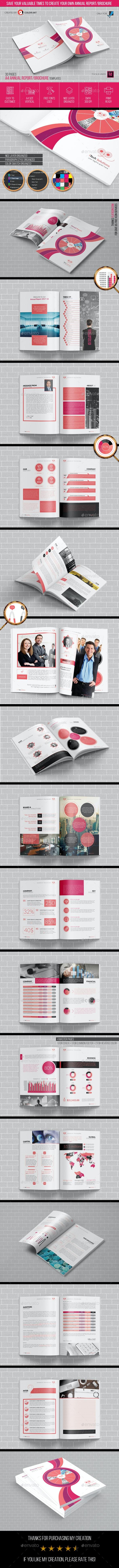 Annual Report Brochure Template 2017-18 - Brochures Print Templates
