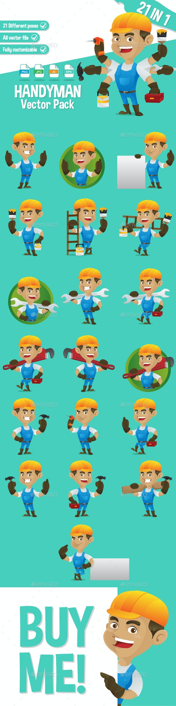 Handyman Vector Pack - People Characters