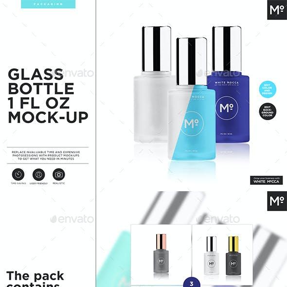 Glass Bottle 1 fl oz Mock-up