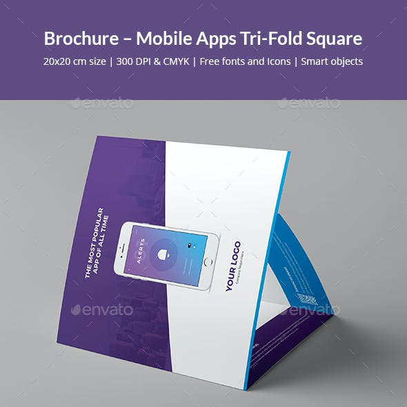 Brochure – Mobile Apps Tri-Fold Square