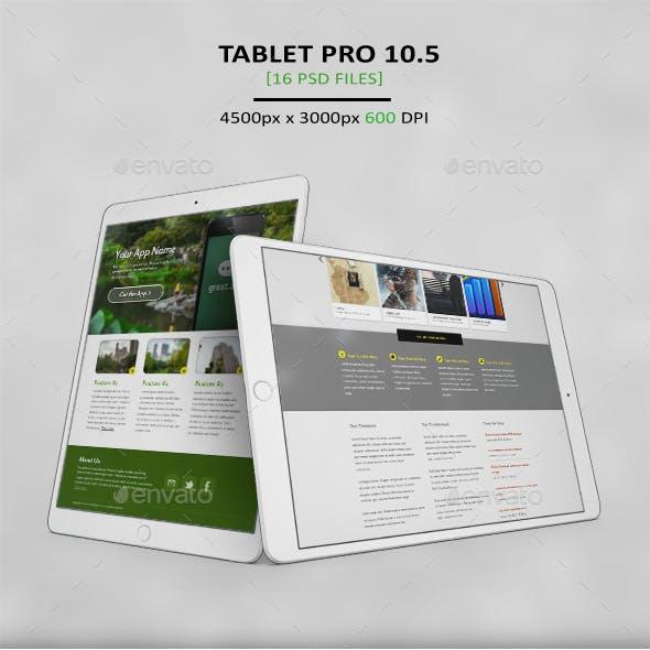 Tablet Pro 10.5 App MockUp 2017 Vol2