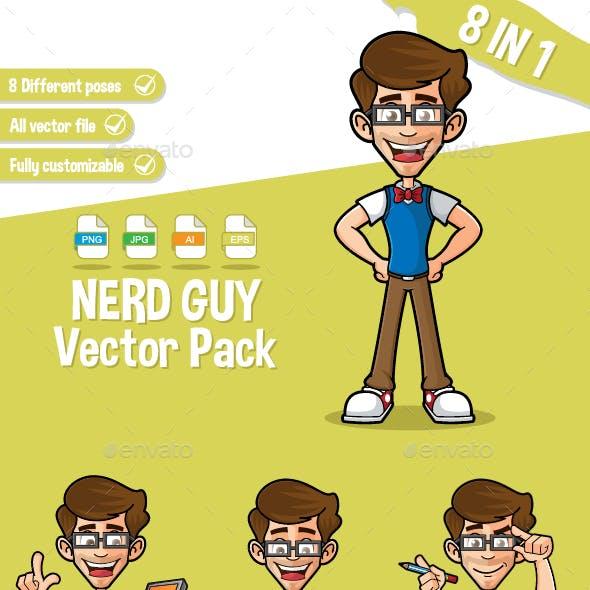 Nerd Guy Vector Pack