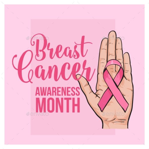 Breast Cancer Awareness Month Banner Poster