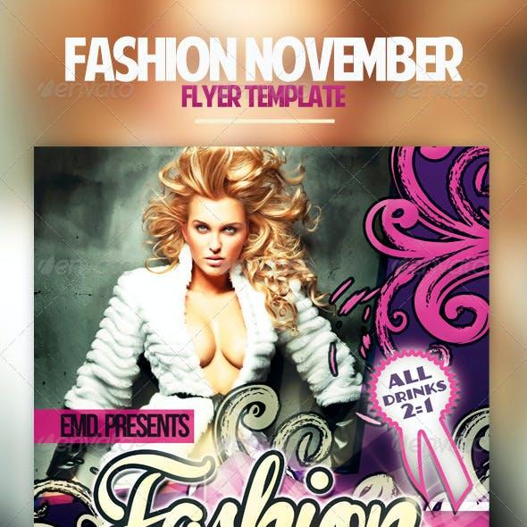 Fashion November Flyer Template
