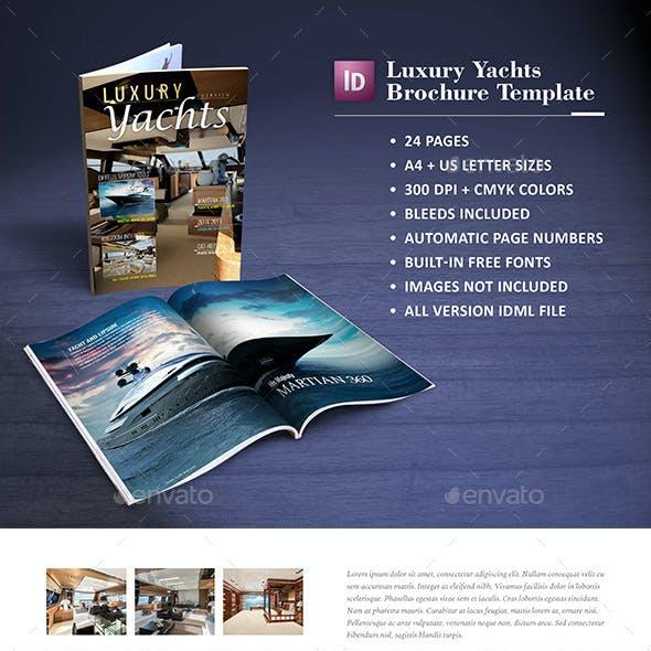 Luxury Yachts Brochure Template