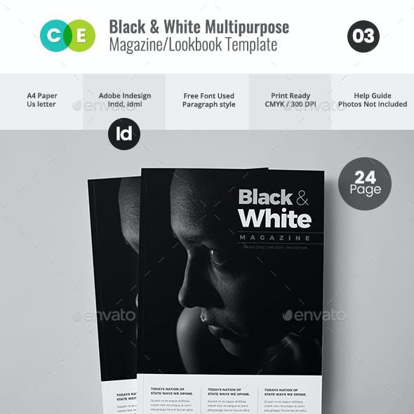 BLACK & WHITE   The Magazine Lookbook V03