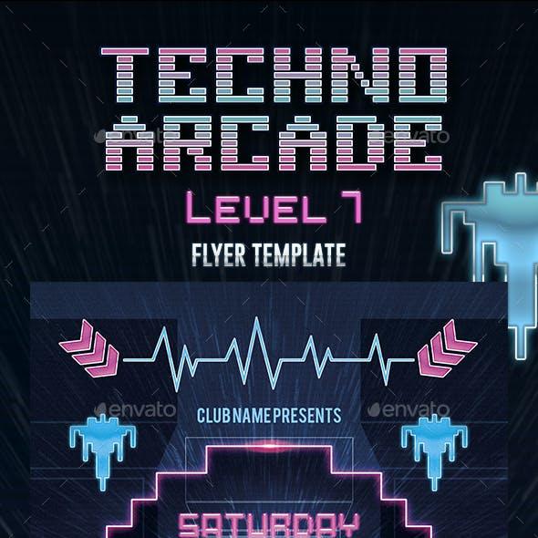 Techno Arcade 3 Flyer Template