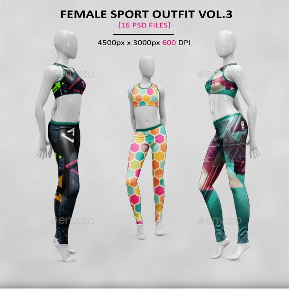 Female Sport Outfit MockUp Vol.3