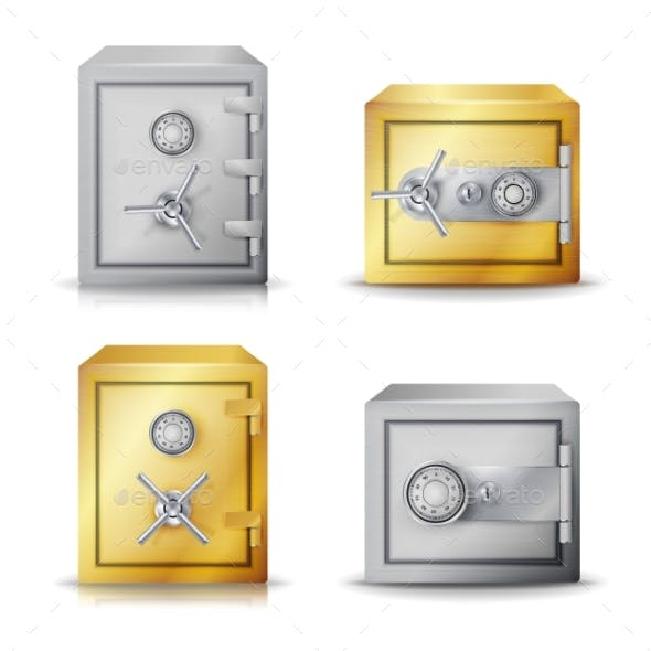 Metal Safe Realistic Vector