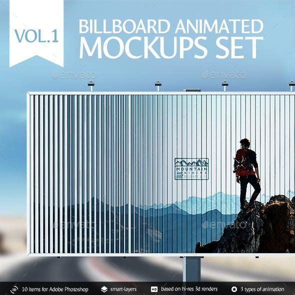 Billboard Animated Mockups Set Vol.1