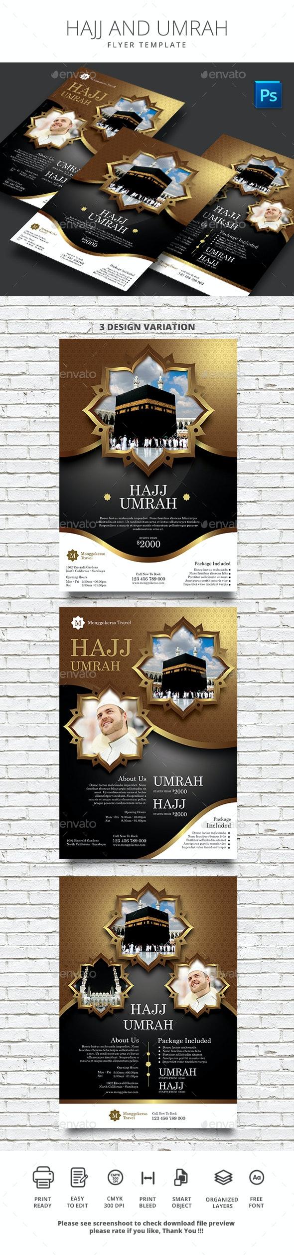 Hajj and Umrah - Flyers Print Templates
