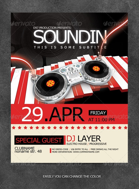 Soundin Party Flyer - Clubs & Parties Events