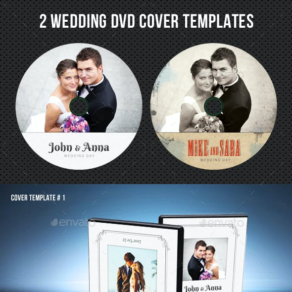 Wedding DVD Cover Template 23