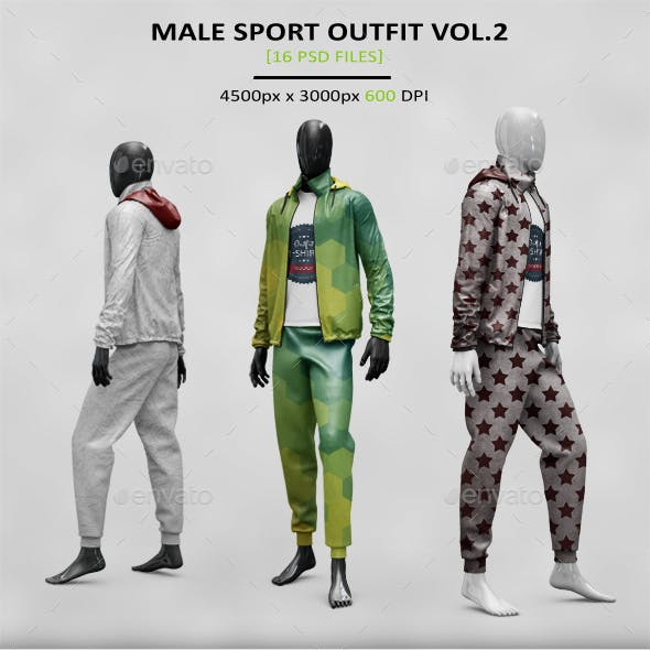 Male Sport Outfit MockUp Vol. 2