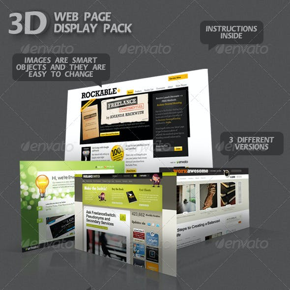 3D Web Page Display Pack