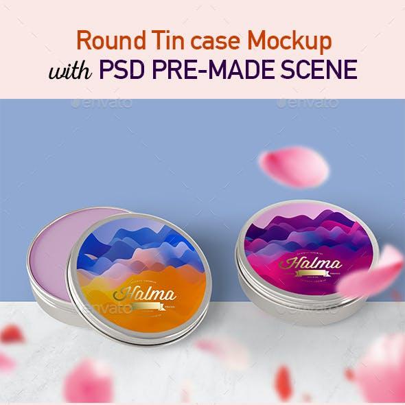 Round Tin Case Mockup