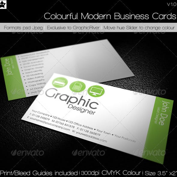 Clean Simple Agency Business Card