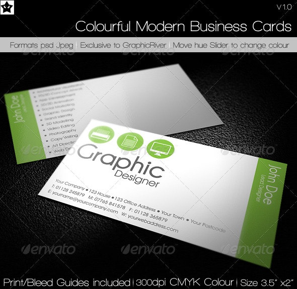Clean Simple Agency Business Card - Corporate Business Cards