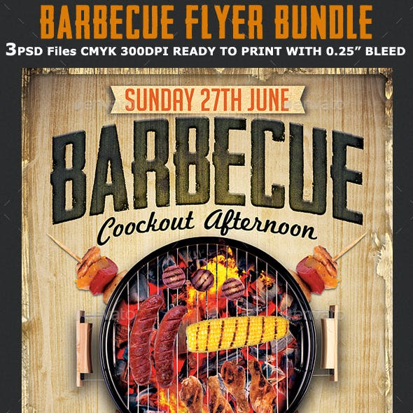 Barbecue Flyer Template Bundle