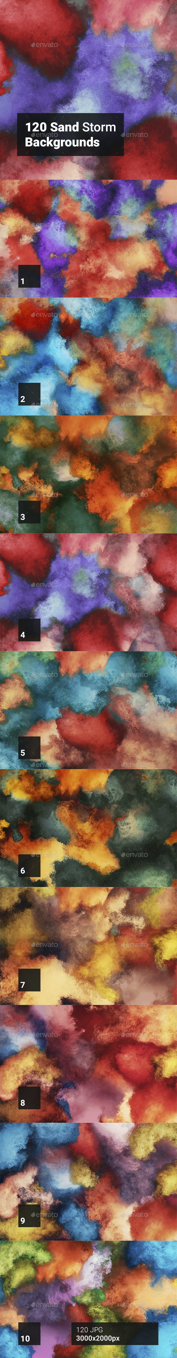 120 Sand Storm Backgrounds - Abstract Backgrounds