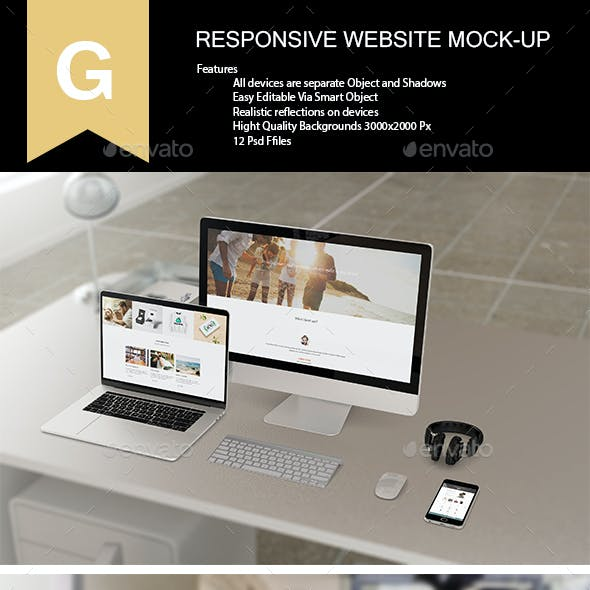 Responsive Website Mock-Up