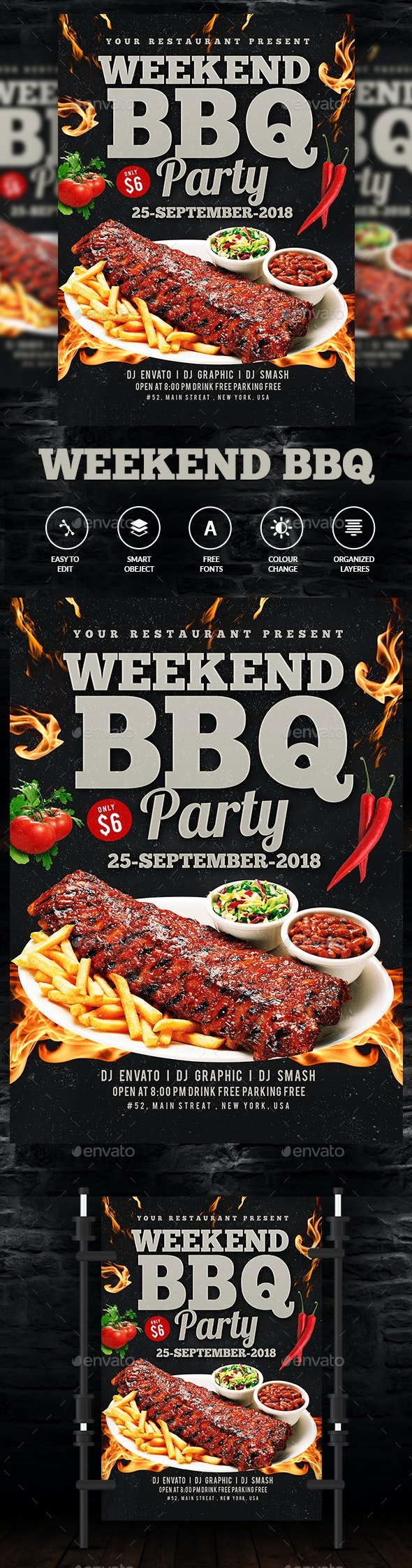 BBQ Flyer Template - Events Flyers