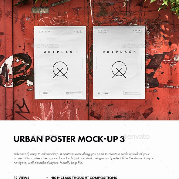 Urban Poster Mock-up 3