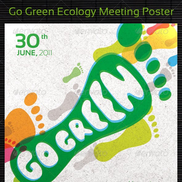Go Green Ecology Meeting Poster/Flyer